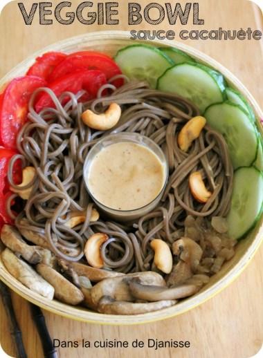 veggie bowl sauc e cacahuète