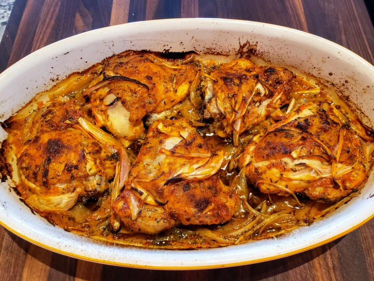 baked chicken with shallots