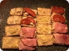pain de mie fromage et jambon