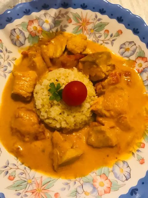 Curry de lieu et boulgour plats réconforts octobre (menu)