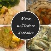 menu multicolore octobre