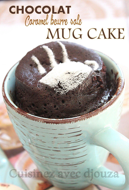 Mug Cake Sans Beurre : beurre, Chocolat,, Gâteau, Minute, Micro-ondes
