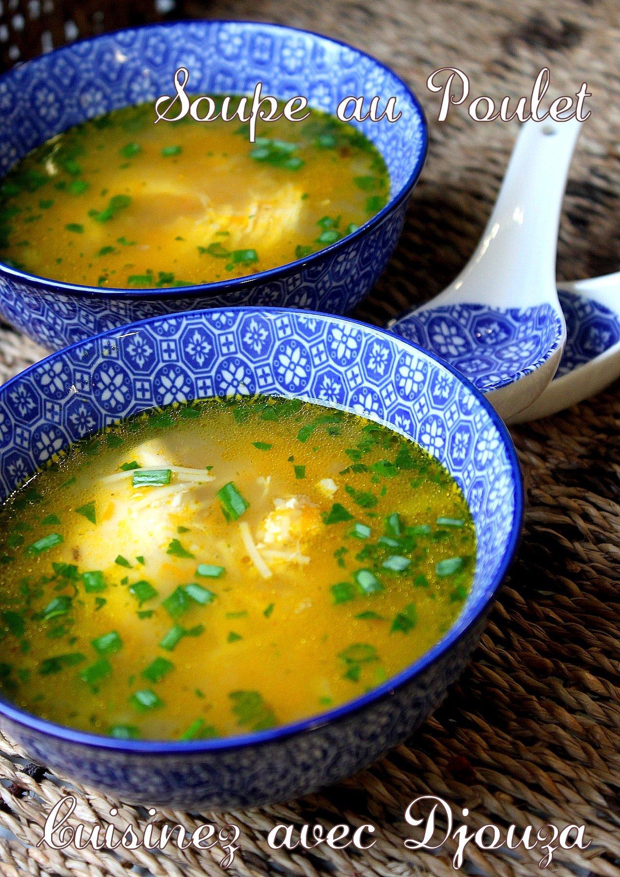 Soupe de vermicelle au poulet  La cuisine de Djouza