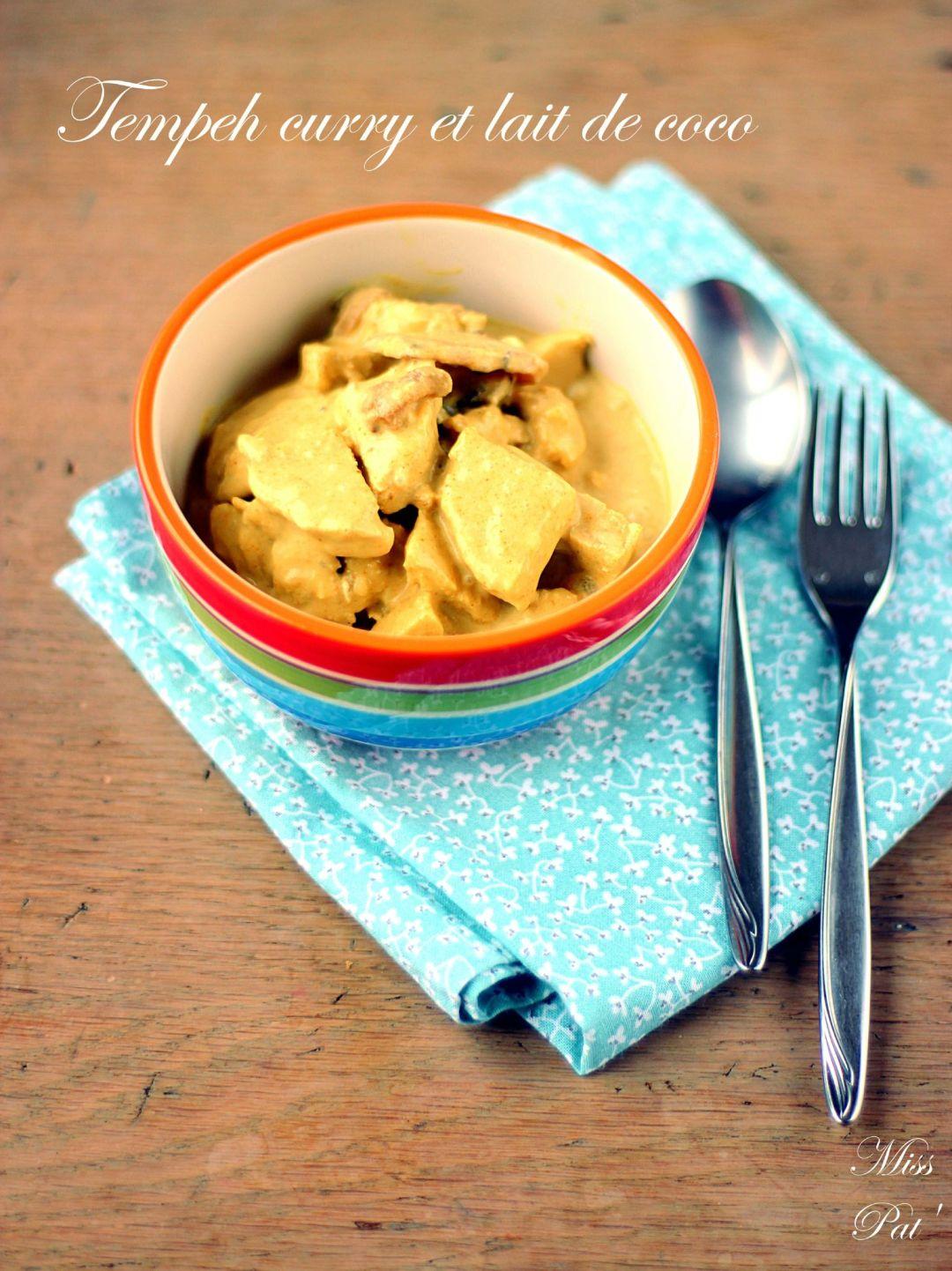 tempeh curry et lait de coco