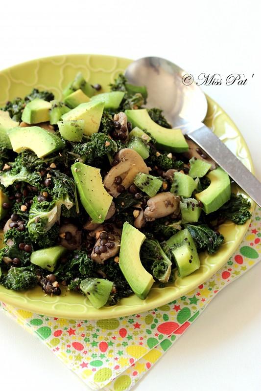 Salade de lentilles au kale misspat