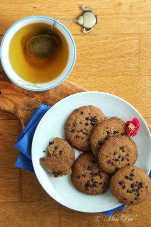 Biscuits sablés aux pépites de fèves de cacao