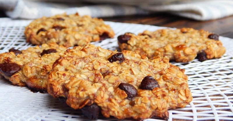galletas de avena y banana