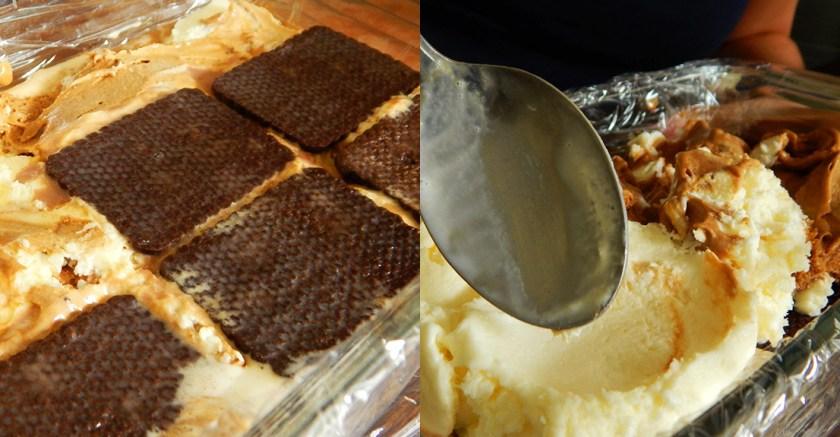 chocotorta con helado dulce de leche crema chocolinas