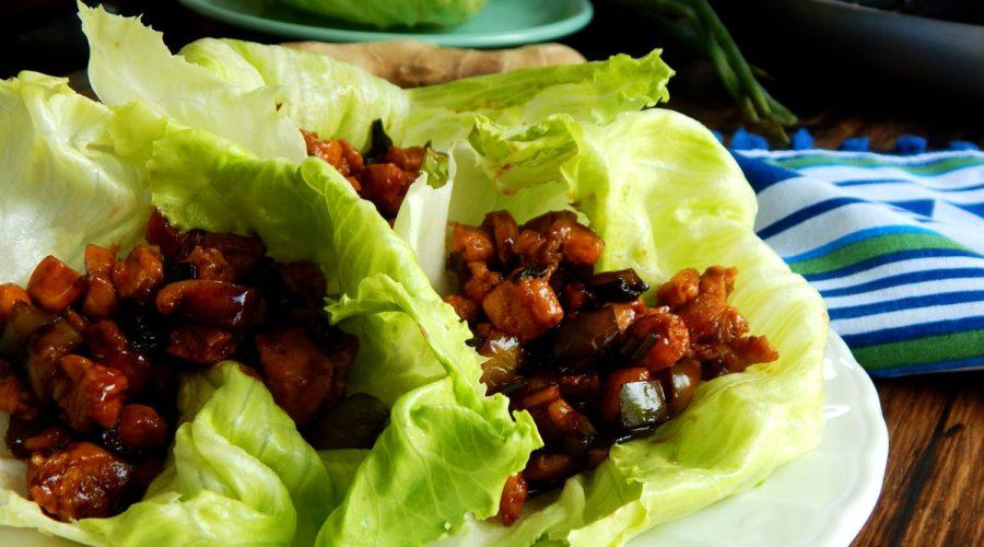 wraps de pollo sin gluten lechuga