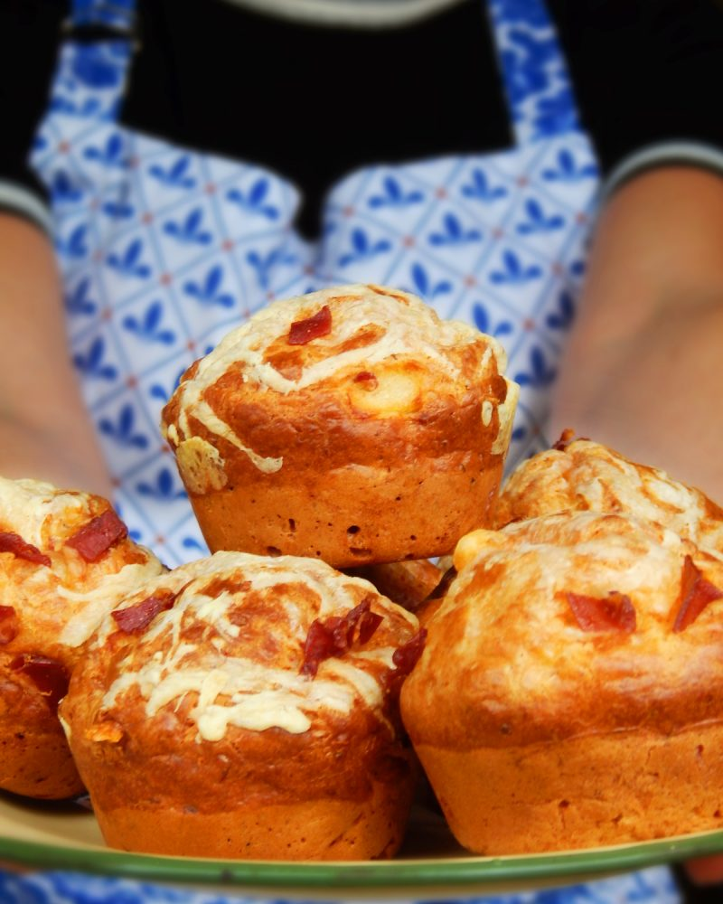 muffins salados jamon queso