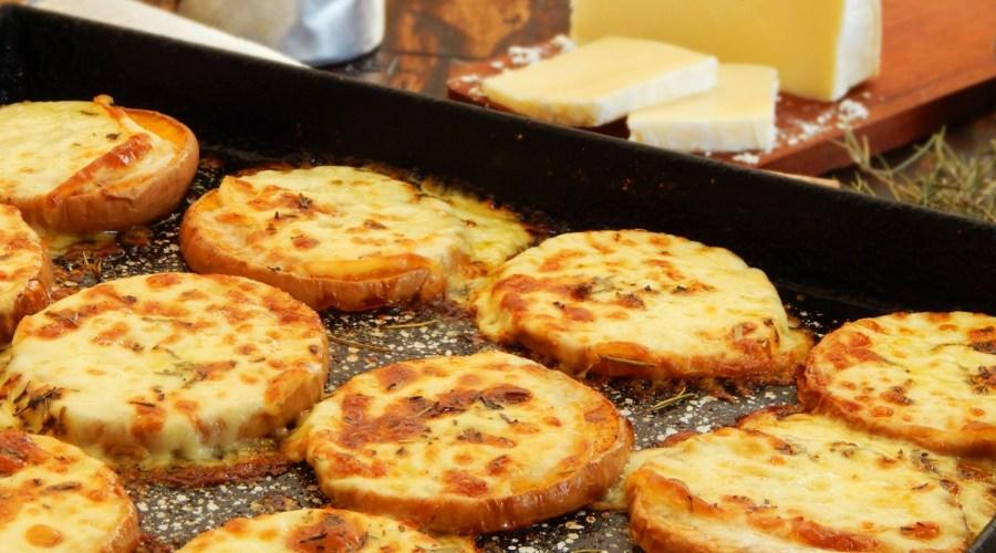 calabaza con queso al horno