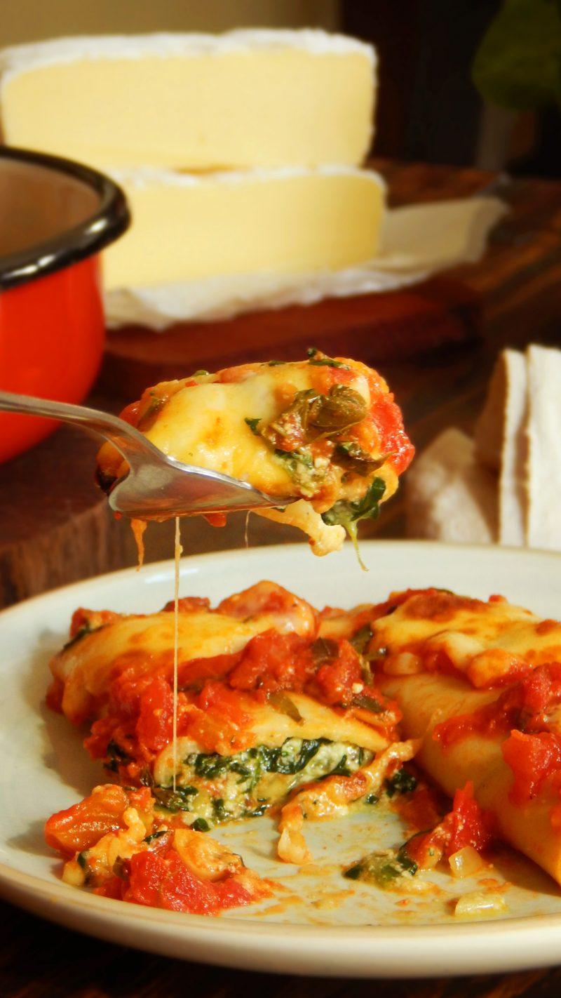 canelones de verdura ricota queso