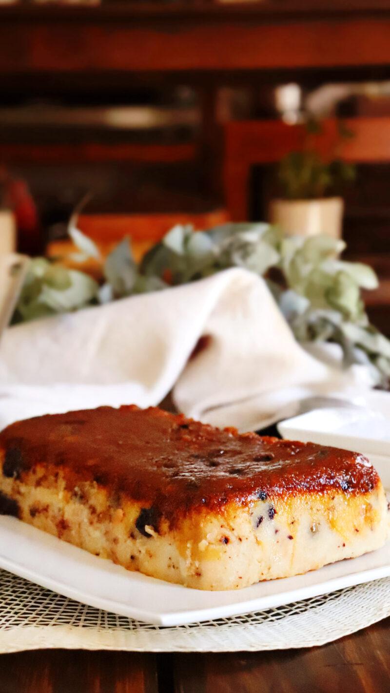 budin de pan casero caramelo chocolate facil