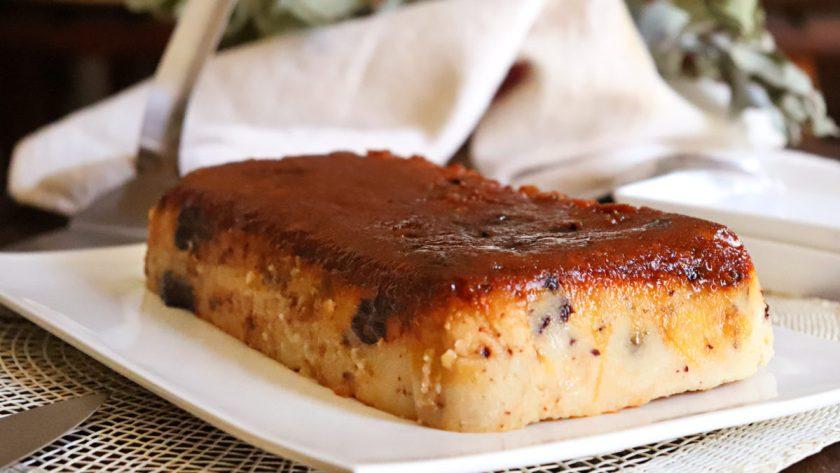 budin de pan casero caramelo chocolate