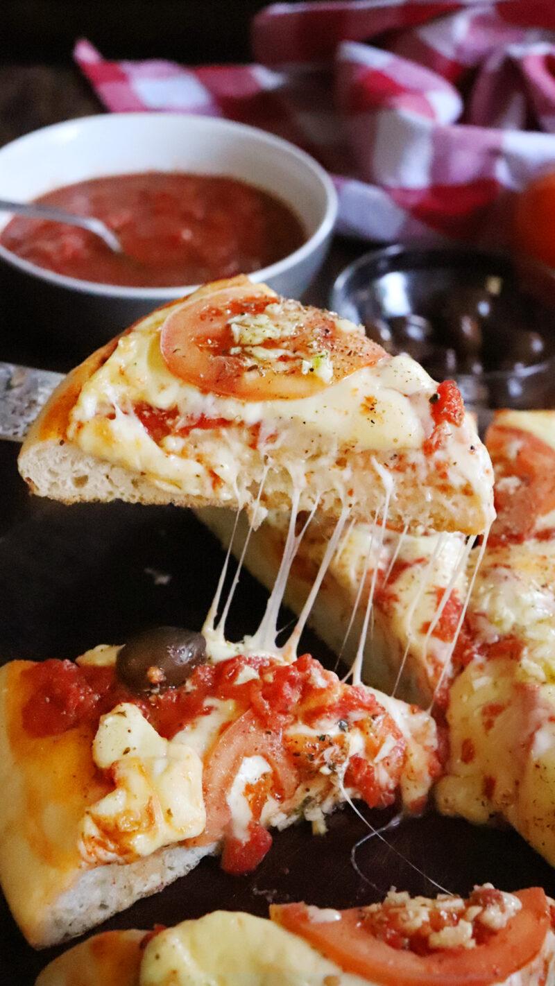 pizza al molde porteña mediamasa jamon y morron