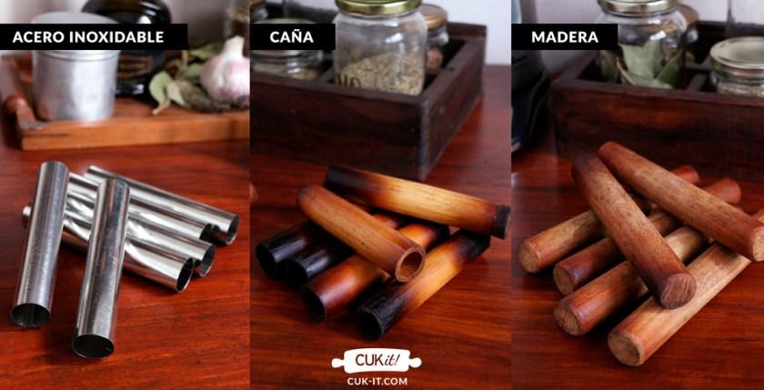 cannoli siciliano madera caña acero