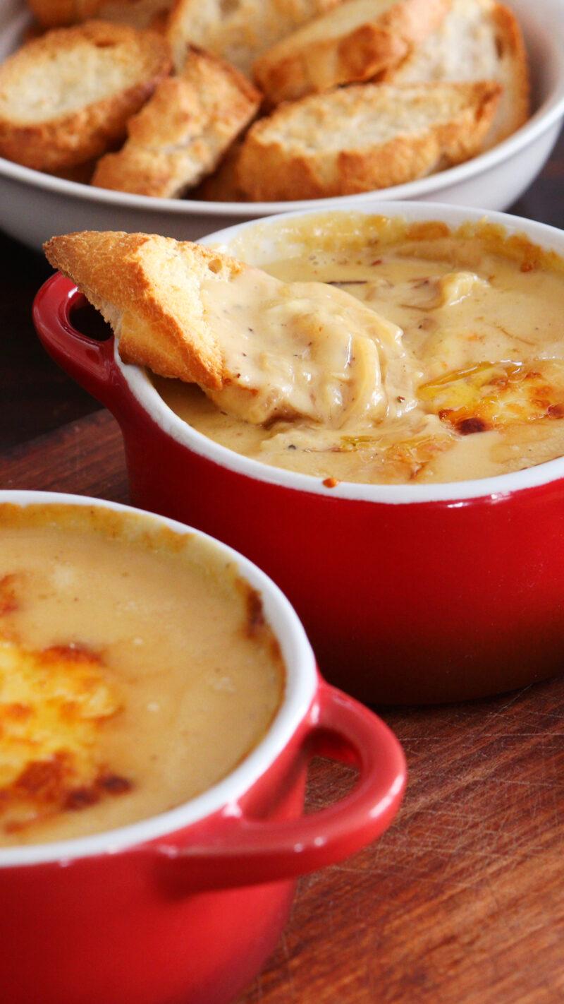 dip cebolla queso botana salsa