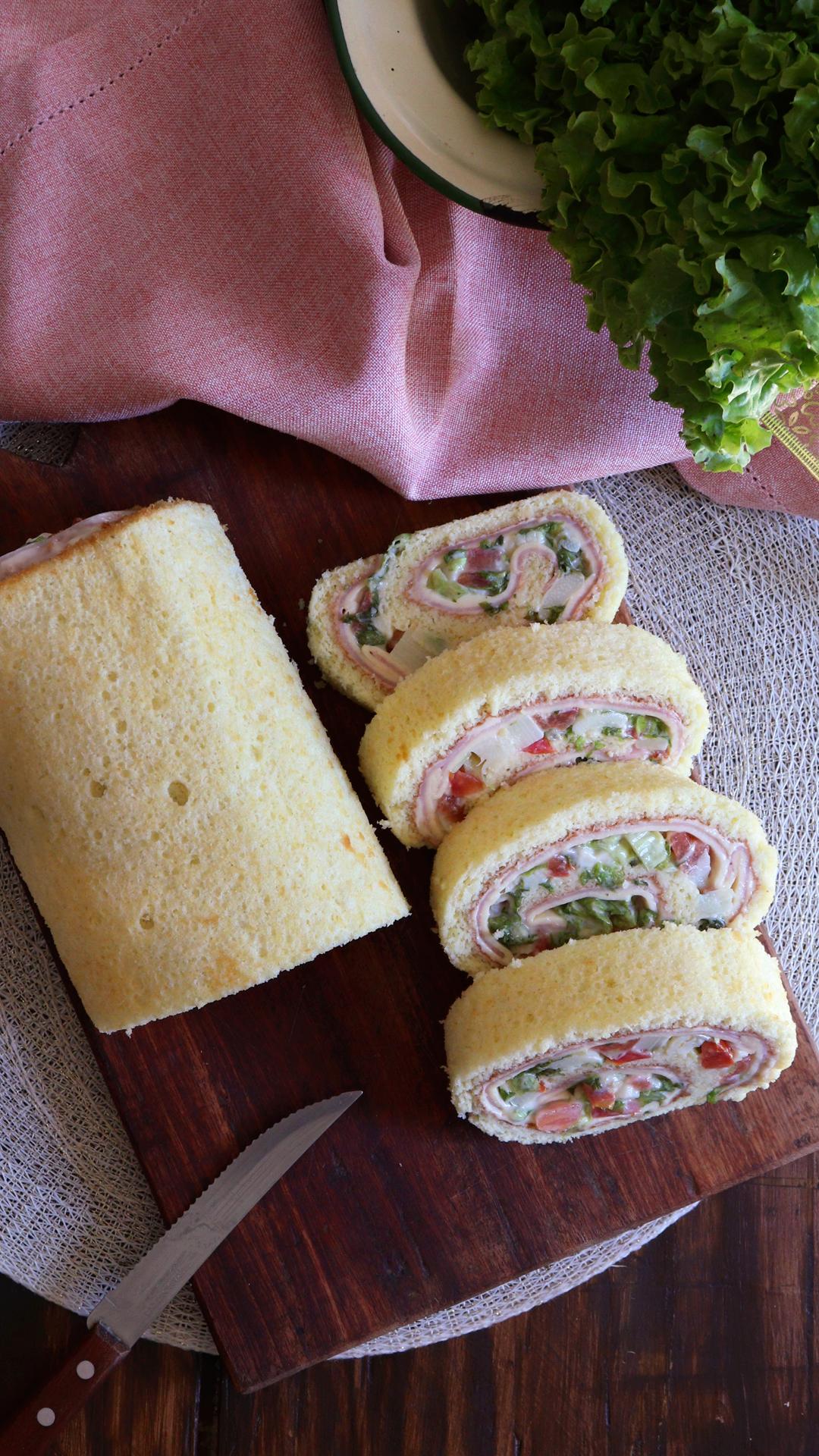 pionono salado primavera jamon queso navidad