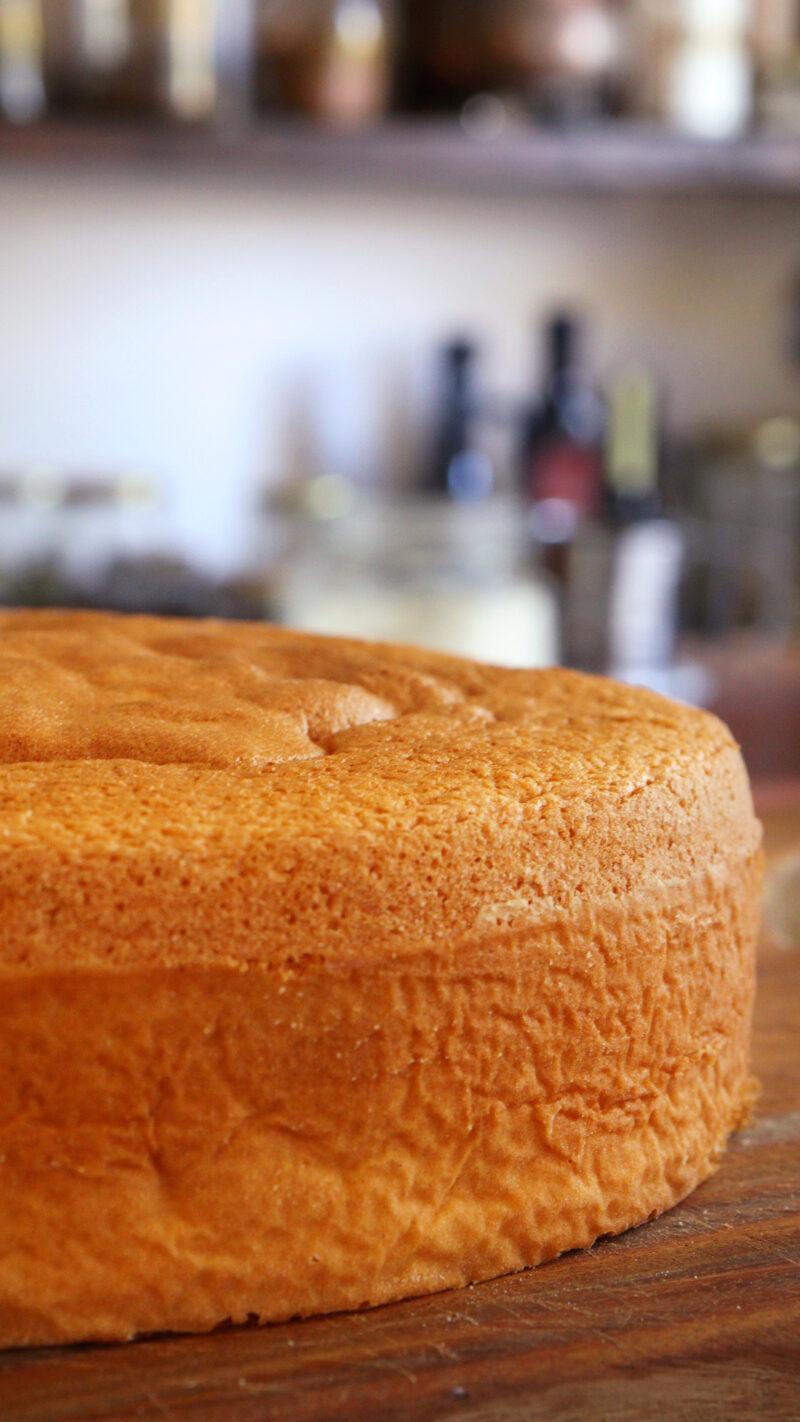 bizcochuelo de naranja bizcocho genoise esponjoso