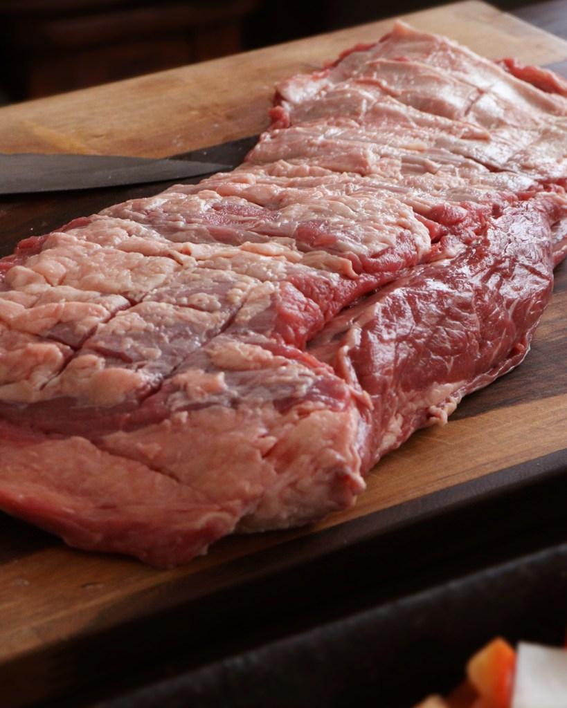 vacio al horno carne de vaca argentina jugoso tierno