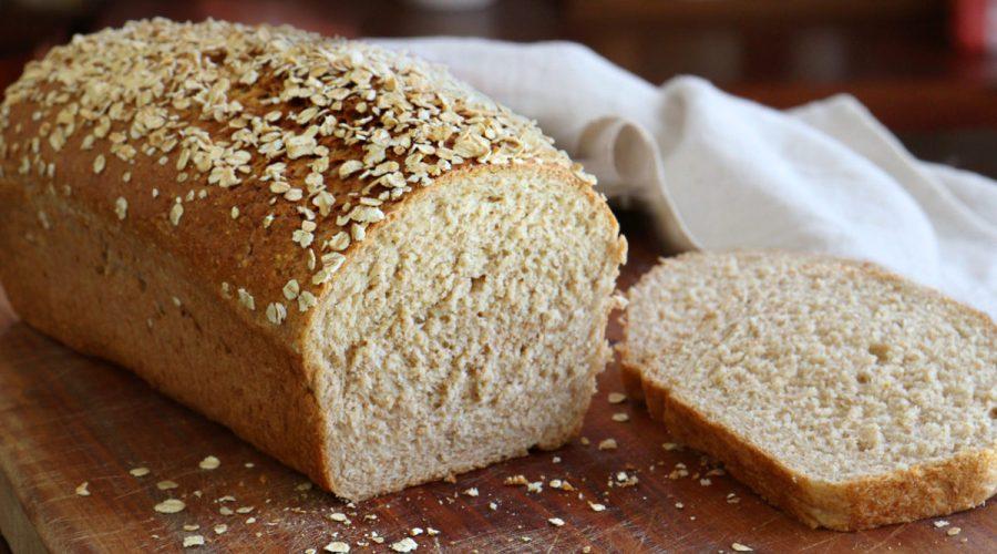 pan integral avena miel molde casero