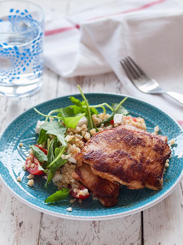 Bulgur salata i svinski odrezak