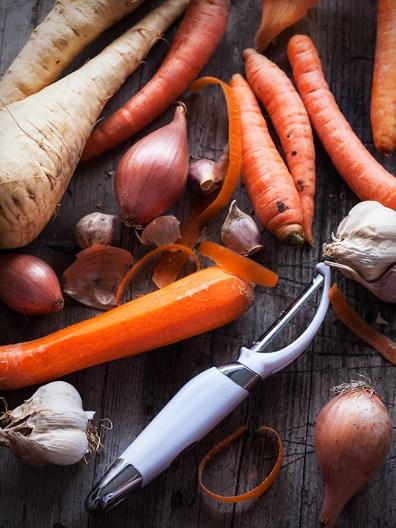 Priprema povrća za juhu