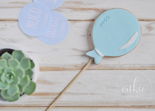 Galletas decoradas comuniones en forma de Globo- Cukie Project