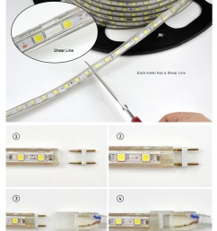 upgrad copper wire 220v smd 5050 led strip light 1m 18m ip65 waterproof led tape outdoor [ 960 x 1260 Pixel ]