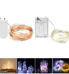copper wire battery powered led night light rgb led strip light 2m 5m led holiday light string lighting christmas decor lamp [ 1000 x 1000 Pixel ]