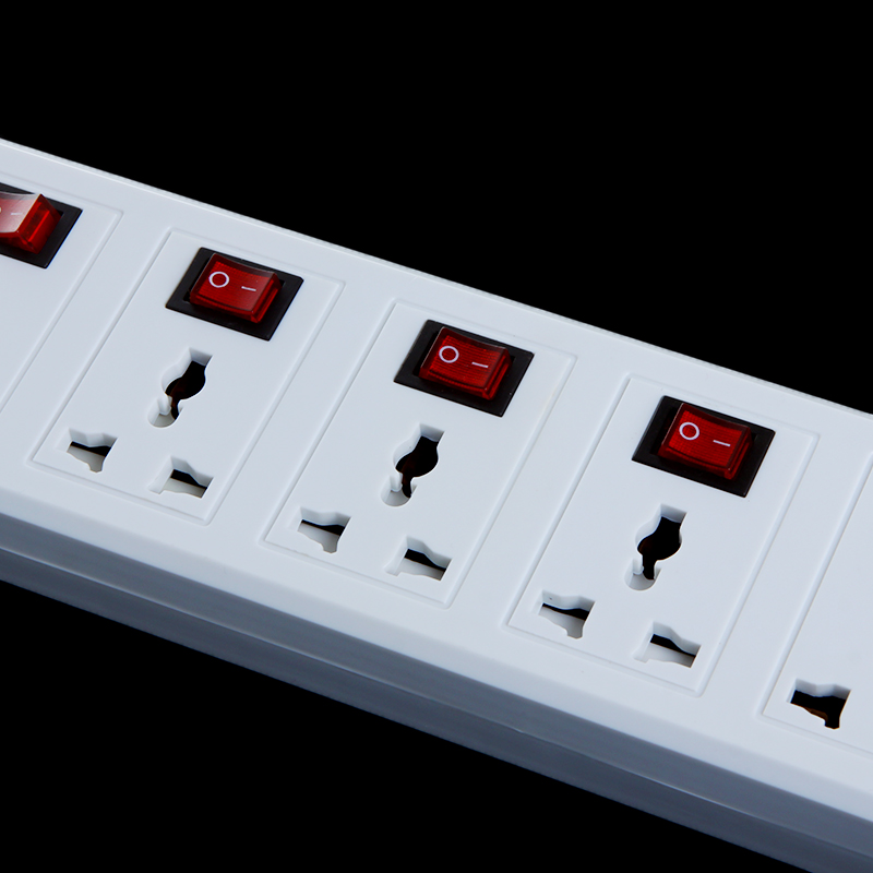Leisure Products 2 Port Power Strip Surge Protector Circuit Breaker