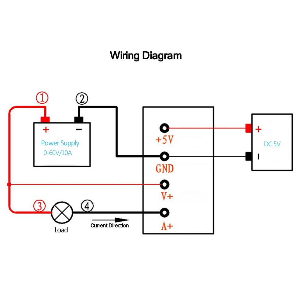 medium resolution of voltage module dc 0 60v 0 10a volt current power resistance measurement module ampmeter voltmeter battery