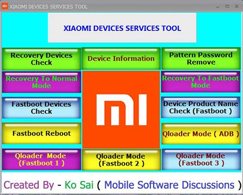 Xiaomi Devices Services Tool