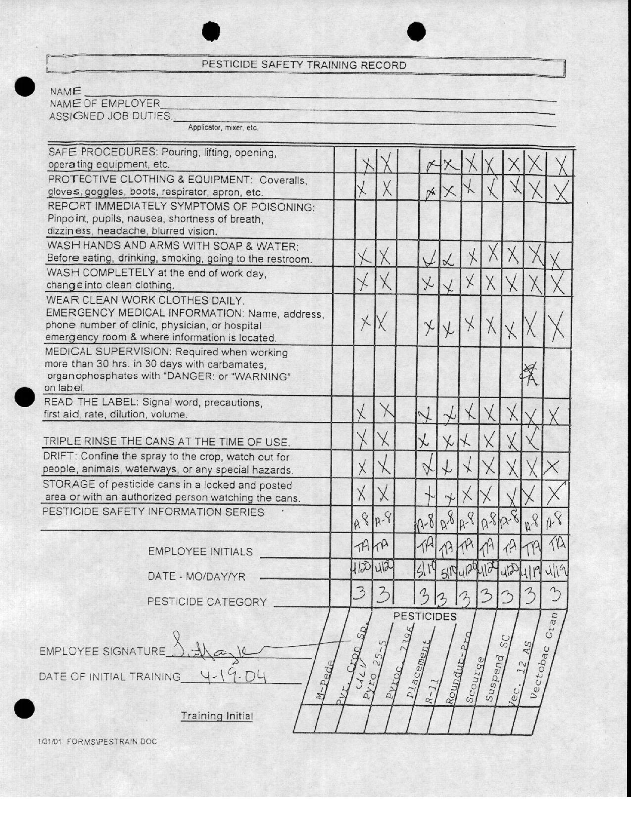 Tiffany Anderson's Files 2004 (Began Employment)
