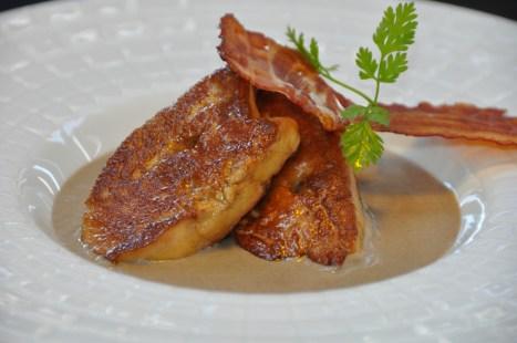 Foie Gras pêlé, crème de lentilles