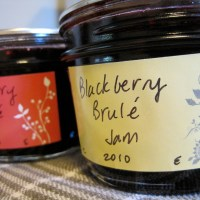roasted blackberry jam for étienne brûlé