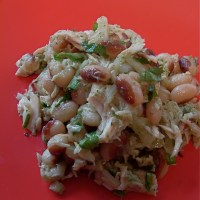 italy at home:  yellow-eye bean salad with oregon tuna