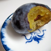 two plum jams: elephant heart and fellenberg