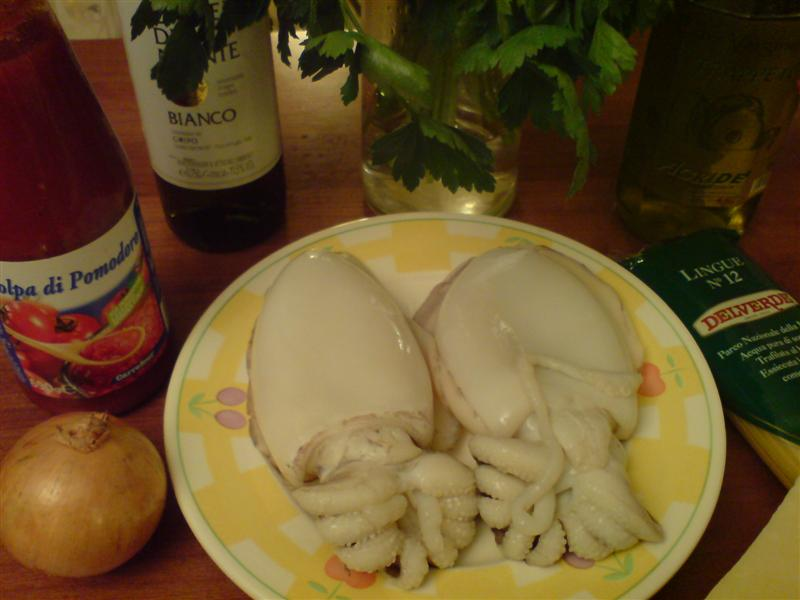 Cuttlefish ragu ingredients