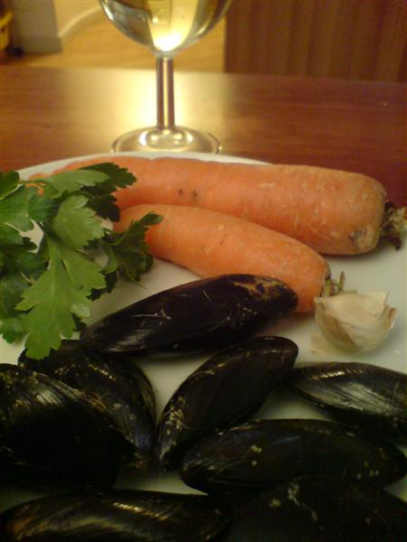 carrot and mussel soup ingredients