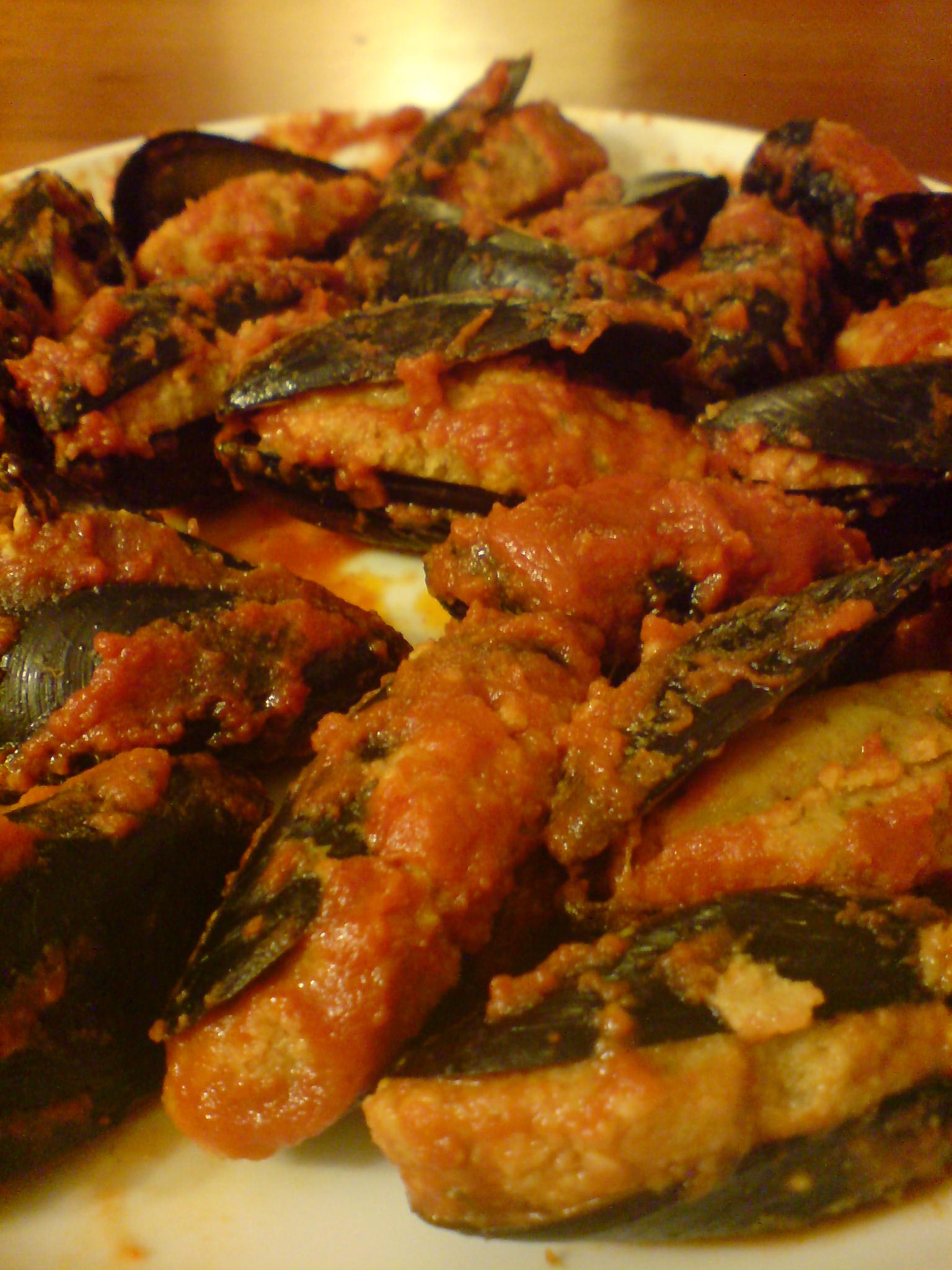 Stuffed mussels finished dish