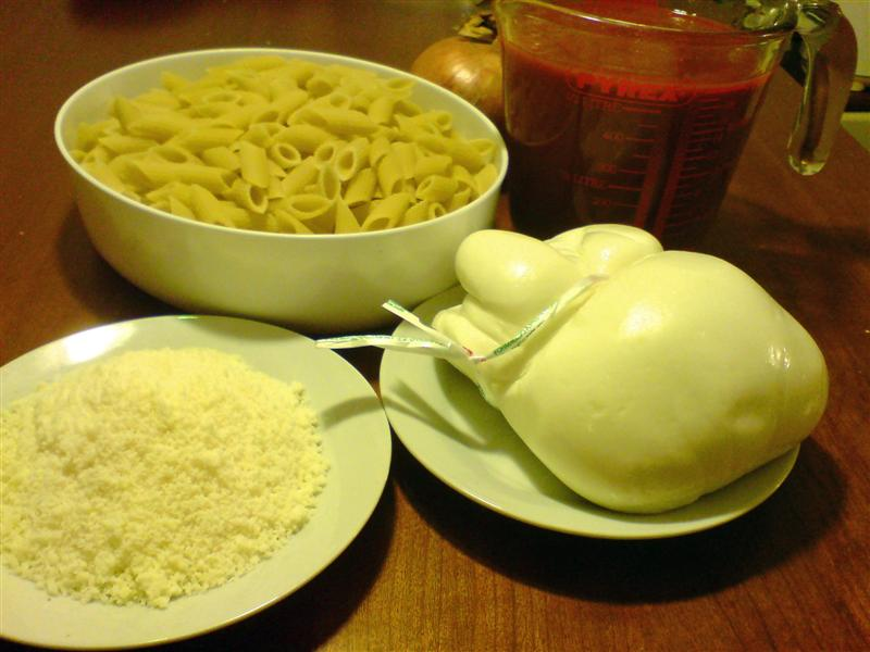 Baked ziti ingredients