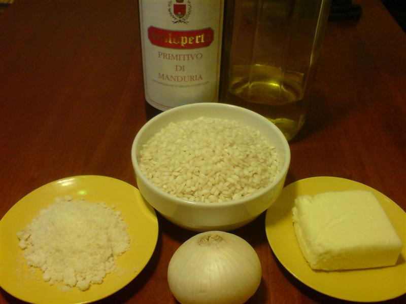 Red wine risotto ingredients