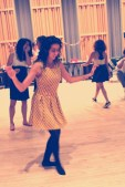 Artist Joanne Raptis shows off her swing dancing skills