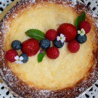 Cheescake con frutti di bosco- a világ legfinomabb sajttortája