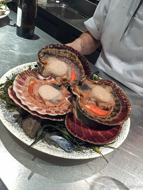 Scallop from the coast of Trondheim grilled in its own shell