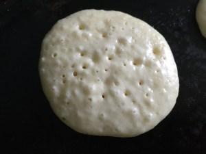Flip when pancake starts to firm uparound the edges
