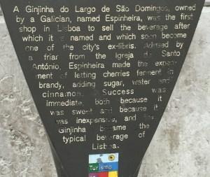 A Ginjinha history
