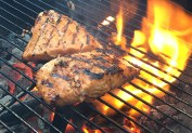 Mike's Knob Creek Bourbon-Grilled Salmon