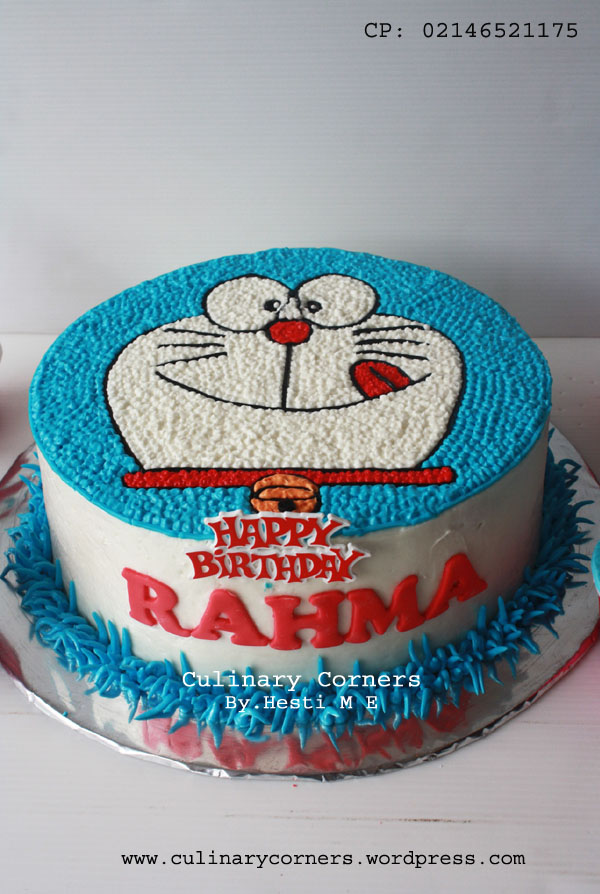 kue ulang tahun doraemon  Culinary Corners